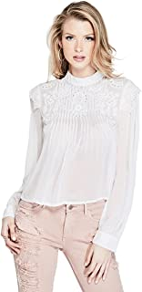 Women's Long Sleeve Sage Embroidered Top