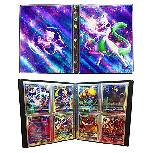 bsdppt Album compatible con cartas Pokemon 2021, Libro cromos álbum, Sobres tcg archivador, Fundas juguetes, Soporte para álbum, Capacidad para 160 cartas - S102
