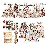 Ambolio Bolsas de Regalo Navidad Calendario de Adviento,Cale