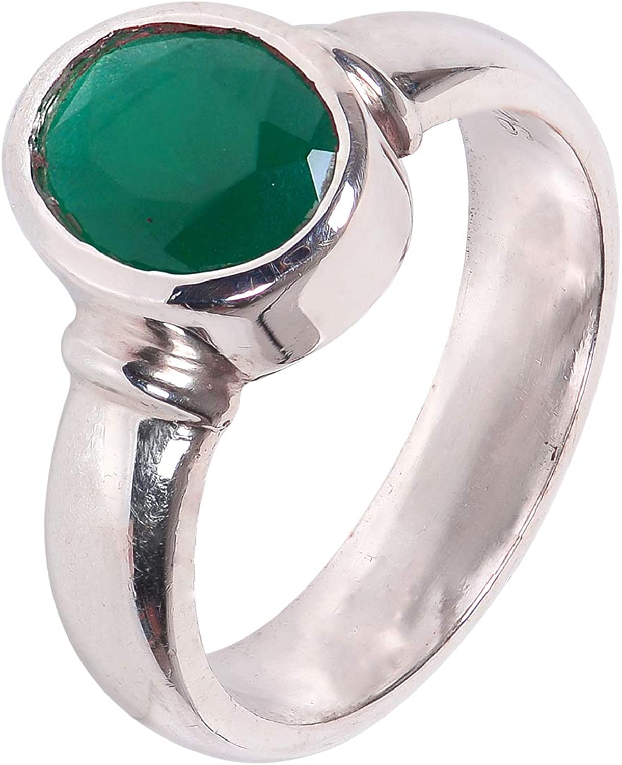 Silverwala Special Campaign 925 Sterling Silver Emerald f Finger Ring Stone Birth Omaha Mall