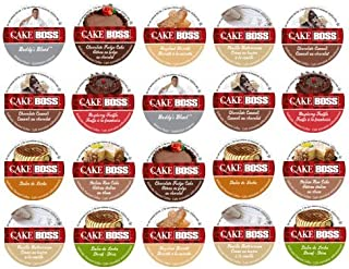 20-count for Keurig Brewers Coffee Variety Pack Featuring Cake Boss Coffee Sampler Cups Including