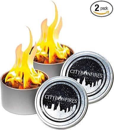 2 Pack of City Bonfires, Portable Fire Pit