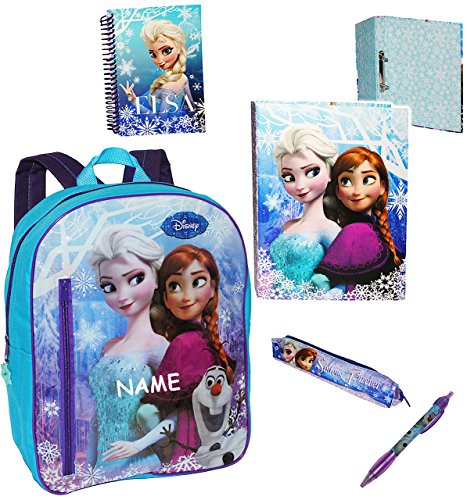 alles-meine.de GmbH Frozen - die Eiskönigin / völlig unverfroren  - gefüllter Rucksack - incl. Name - Kinderrucksack / groß Kind - Mädchen - Prinzessin Anna / ELSA Arendelle /..