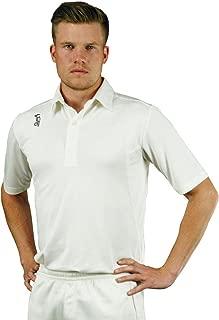 Kookaburra 2018 Pro Players Short Sleeve Kids Cricket Whites Shirt Cream