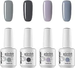 BELLA MODA 15ml Nail Gel Soak Off UV Led Varnish Lacquer Nail Art Grey Colors Gel Nail Polish Set BM-62