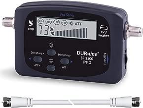 NEU - DUR-line® SF 2500 Pro - Satfinder - Display & Elektronik verbessert - digitales Satelliten-Messgerät zur exakten Justierung Ihrer Sat-Antenne - Finder inkl. F-Kabel und verständlicher Anleitung