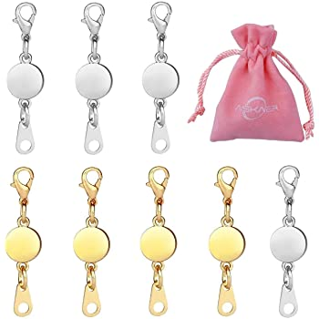 20pcs Gold Color and Silver Color Magnetic Converter Clasps Closures for Jewelry Necklace Bracelet Magnetic Lobster Clasp