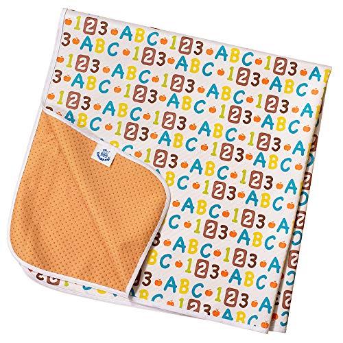 Rutschfeste Spritzmatte von TotsAhoy!® Große Unterlage Bodenschutz für Hochstuhl (ABC) Splat/Splash Mat