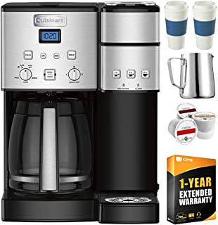 Cuisinart SS-15 12-Cup Coffee Maker and Single-Serve Brewer, Stainless w/K Cups, Carafe,..