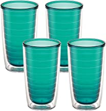 Tervis 1037266 Clear & Colorful Insulated Tumbler 4 Pack - Boxed 16 oz Tritan Emerald