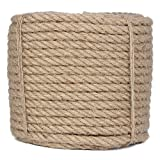 Corda di iuta intrecciata Manila, corda di iuta naturale da 100 metri, corda di canapa, diametro 1,2 cm