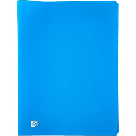 OXFORD Pochette Protège-documents souples 20 pages, 40 vues en polypropylène opaque A4 Bleu