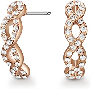Mestige Women Glass Rose Gold Savannah Earrings with Swarovski Crystals