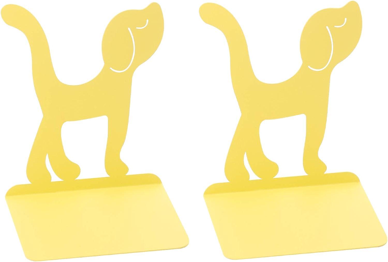 Genuine Creative Animal Design Decorative Bookends Orange Bright - Charlotte Mall Yello