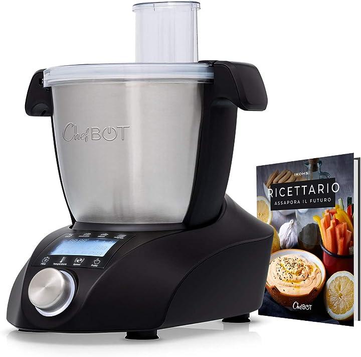 Robot da cucina multifunzione, compatto, 23 funzioni, 10 velocità con turbo, 3,5 litri B07YKYFZKY