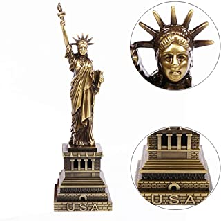 Vimbo Statue of Liberty Statue 7.1 inches Desk Decoration Bookcase Adornment Study Collection Architectural Statue Souvenir with Gift Box (Statue of Liberty)