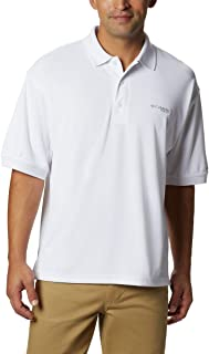 Columbia Sportswear Men's Perfect Cast Polo Shirt, White, X-Large Tall