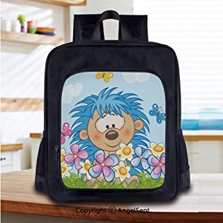 Print School Backpacks For Girls AnimalsFlowers and Foliage Heart Shaped Clouds
