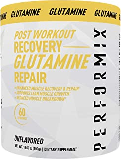 Performix Post Workout L-Glutamine - 60 Servings (300g) - for Enhanced Muscle Recovery, Repair, Lean Muscle Growth, Reduce...
