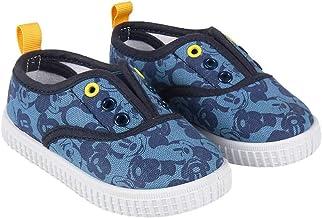 Zapatillas de Lona Niño Mickey Mouse Disney Sin Cordones, Azules (Tallas 22 a 27)
