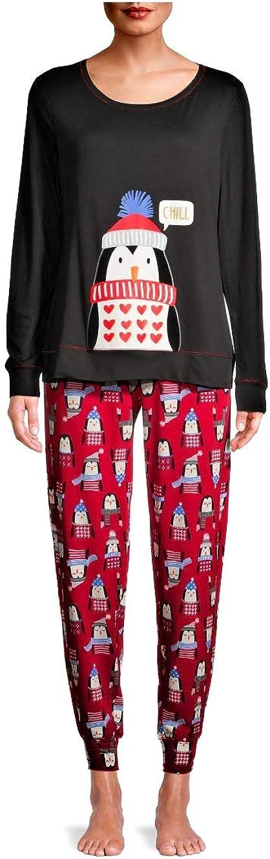 Secret Treasures Women's and Women's Plus Long Sleeve Top and Pants 2-Piece Pajama Set