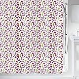 """Spirella Anti-Schimmel Duschvorhang - Anti-Bakteriell, waschbar, wasserdicht, Polyester, """"Blumen"""" 180x200cm Pink Weiß"""