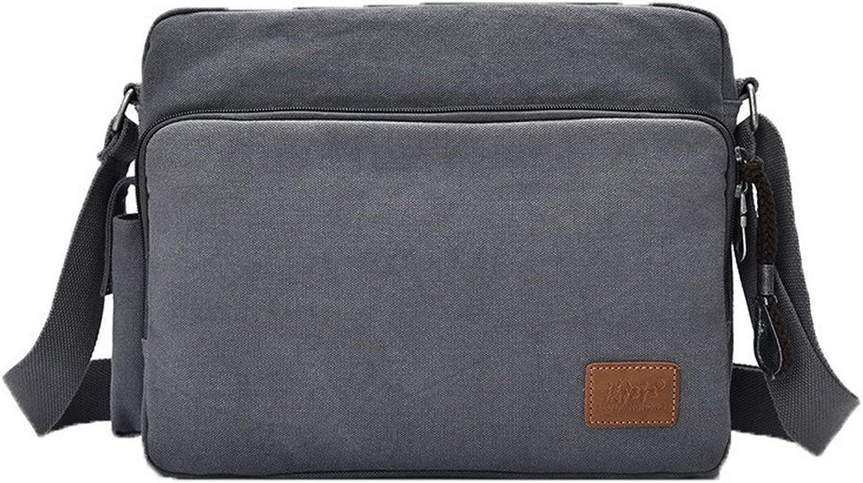 AllhqFashion Women's Fashion Casual Zippers Canvas Shoulder Bags, FBUBD181116