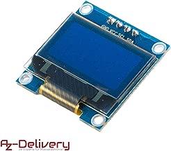AZDelivery Pantalla OLED Display I2C 128 x 64 píxeles 0.96 Pulgadas para Arduino y Raspberry Pi con eBook incluido