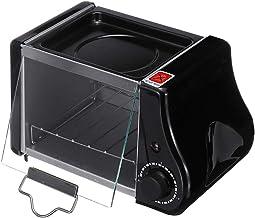 220 v / 220W 2pcs Bandeja para Hornear 1.5L Mini Pan Tostador, Horno eléctrico Sartén Huevos Huevos Tortilla Pizzas de Cocina Pan Frito Pastel