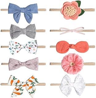 DAYONG Baby Girls Headbands Hair Bows Super Soft Slim Hair Bands (Style-3)
