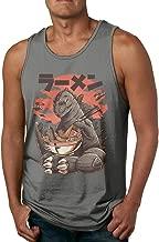 AHDDO Black Amazing Godzilla Ramen Men's Tank Top