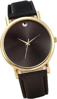Sannysis(TM) 1PC Luxury Retro Design Leather Band Analog Alloy Quartz Wrist Watch (Black)