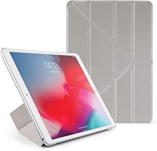 Pipetto Origami iPad Case Air 10.5 inch (2019) & Pro 10.5 inch (2017) with 5 in 1 Stand & auto Sleep/Wake Function Silver/...