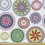 ABAKUHAUS Mandala Gewebe als Meterware, Vintage verzierten