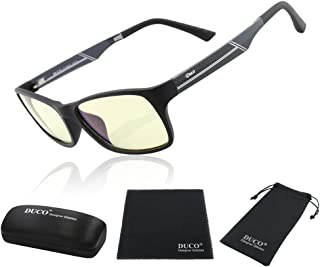 DUCO Superlight Blue Light Blocking Computer Reading and Gaming Video Eyewear Glasses,Anti Blue Ray Light 100% UV Protection 223