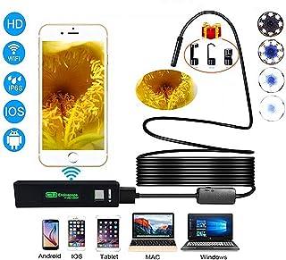 TxDike Lan Cámara Endoscópica WiFi Teléfono Celular Inalámbrico Cámara Endoscópica 1200P HD 5.0 MP Inspección Cámara 50Cm Distancia Focal Boroscopio3.5metersinlength