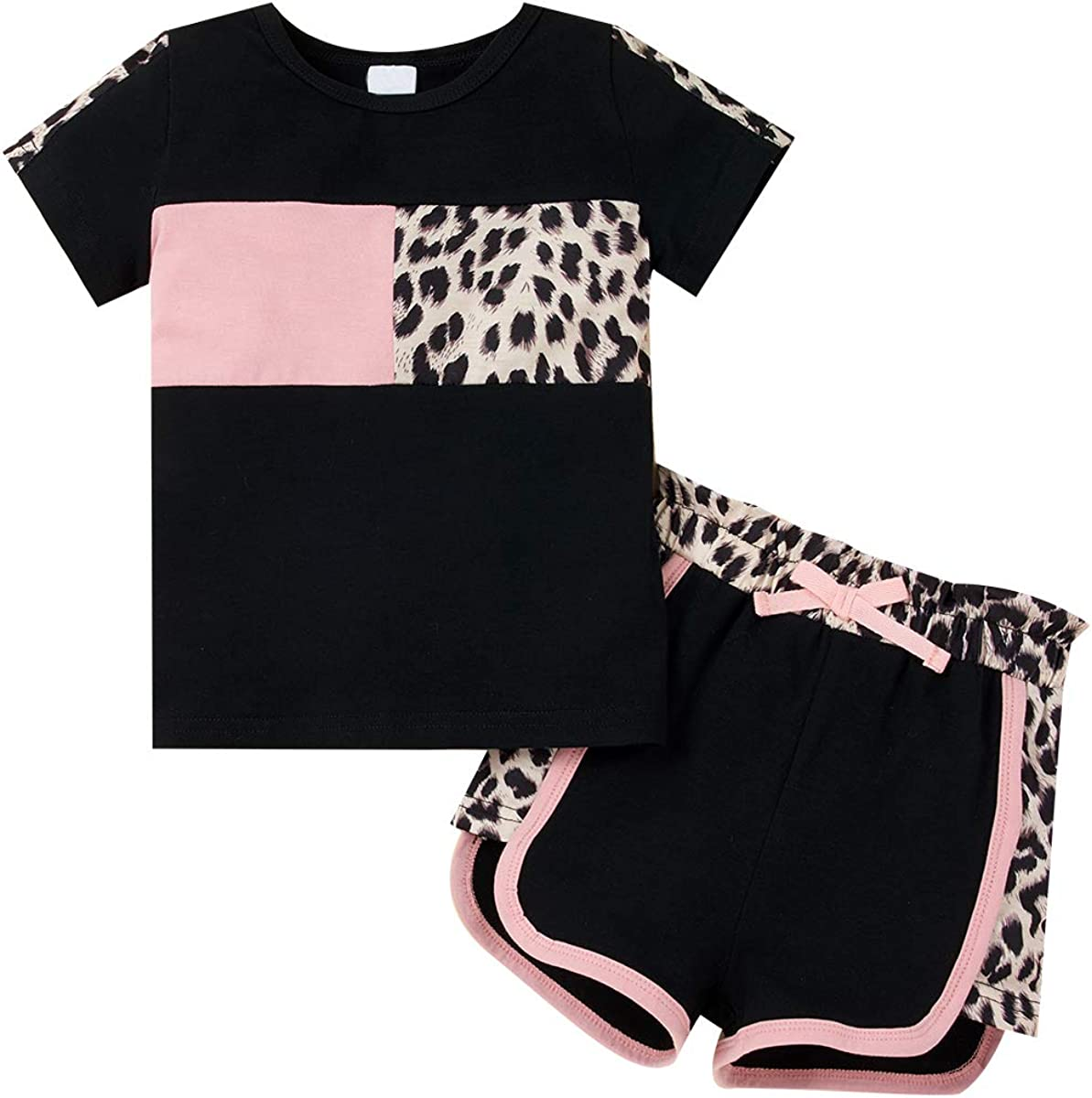 Baby Boys 2Pcs Summer Clothing Sets Cute Animal Print Sleeveless Tank Tops T-Shirt Palm Shorts Outfits