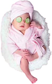 Newborn Baby Photo Props Bathrobes With Towel Sets for Boys Girls Baby Photography Props Pink