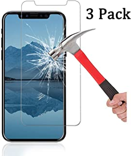 [3-Pack] Ankoe for iPhone XR Screen Protector, 2.5D Edge 0.33mm Clear Film Anti-Scratch and Anti-Fingerprint Ultra Slim HD Clear Premium Tempered Glass for Apple iPhone XR