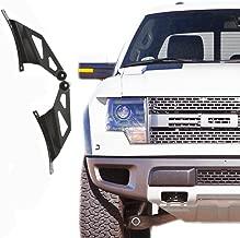 Xprite 50-inch Straight & Curved LED Work Light Bar Steel Metal Upper Windshield Mounting Brackets 2010-2014 FORD F150 & F150 SVT RAPTOR