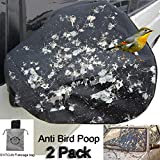 2Pack Huge Auto Side 16x15 inch Mirror Protect Cover Snow and Ice Mirror Covers Universal Size Fits Cars SUV Truck Van with Advanced Anti Bird Poop Technology Frost Guard