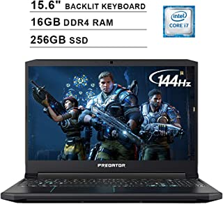 Acer 2019 Predator Helios 300 15.6 Inch FHD Gaming Laptop (9th Gen Intel 6-Core i7-9750H up to 4.5GHz, 16GB RAM, 256GB PCIe SSD, Backlit Keyboard, NVIDIA GeForce GTX 1660 Ti, WiFi, Bluetooth, Win 10)