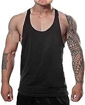 DEERMEI Men's Stringer Gym Tank Top Shirt Print Cotton Bodybuilding Sport Vest