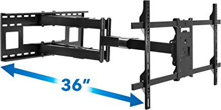 Mount-It! Long Arm TV Mount, Dual Arm Full Motion Wall Bracket with 36 inch Extension Articulating Arm, Fits Screen Sizes 50, 55, 60, 65, 70, 75, 80, 85, 90 Inch, VESA 800x400mm Compatible, 176 lbs