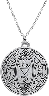 Skyrim Religious Antica Mystic Luna e Stelle Greco Lettera Ciondolo Collana per Uomini e Donne