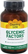 Country Life Glycemic Factors - 100 Tablets - Aids In Glucose Metabolism - Gluten-Free - Minerals - Vitamins - Herbs