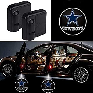 For Dallas Cowboys Car Door Led Welcome Laser Projector Car Door Courtesy Light Suitable Fit for all brands of cars (Dallas Cowboys)