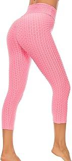 FITTOO Mallas 3/4 Leggings Mujer Pantalones de Yoga Alta Cintura Elásticos y Transpirables