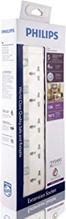 Philips 5 Way Heavy duty Indivisual Switch Socket - 4 Meter