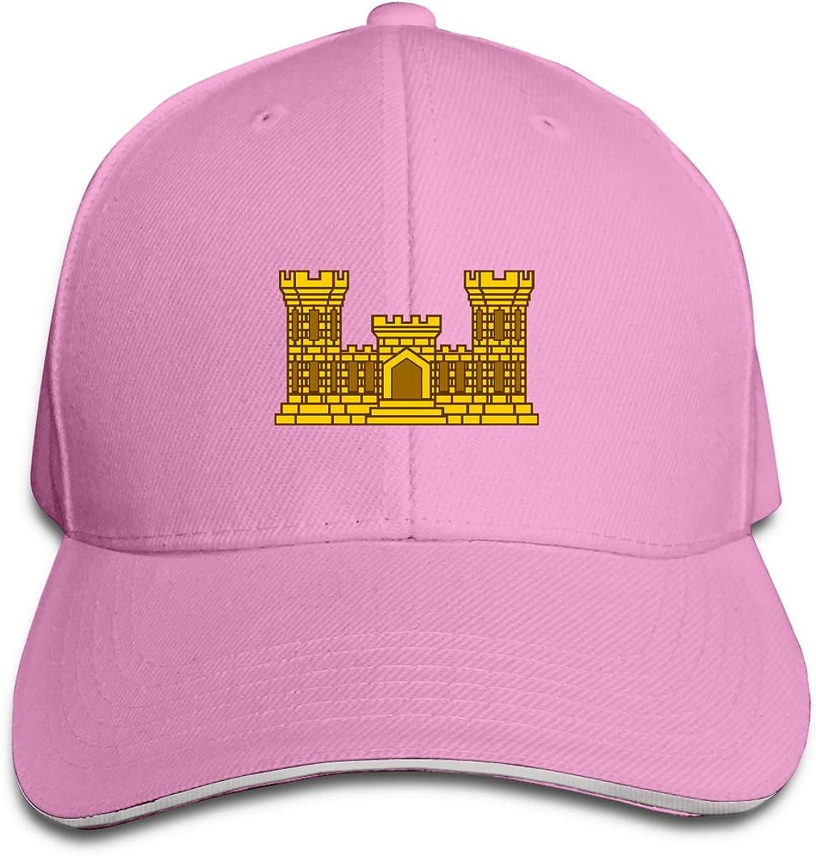 US Army Army Engineer Men and Women Adjustable Sandwich Peaked Baseball Cap